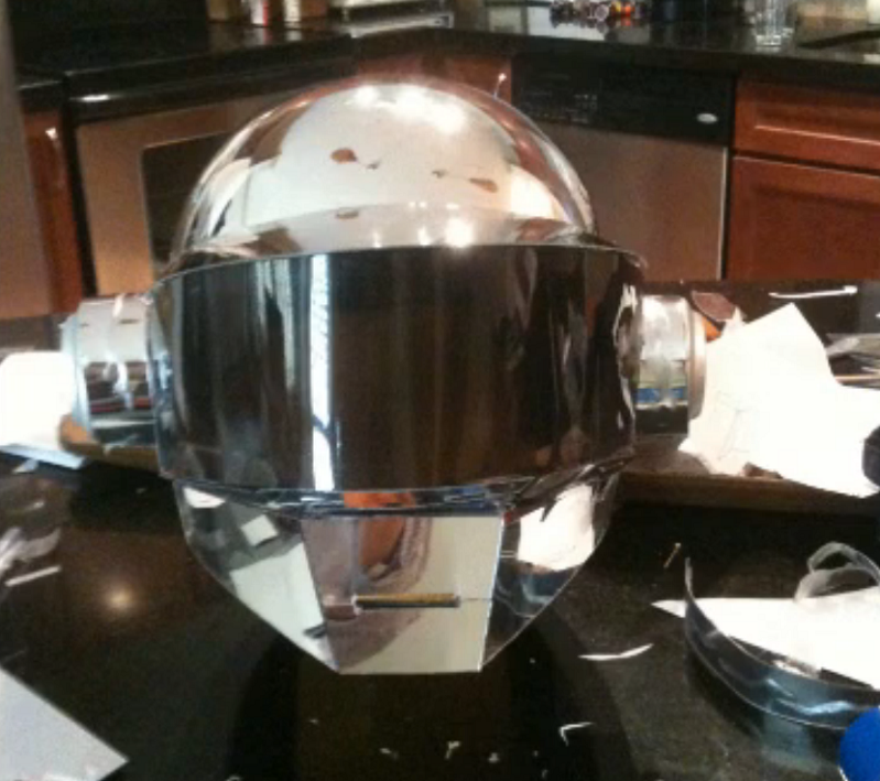 Learn How to Make a Daft Punk Helmet in 2 days How To Make Athenas Helmet