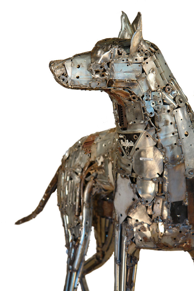 Robotic Dog Drawing Welded Robot Canines