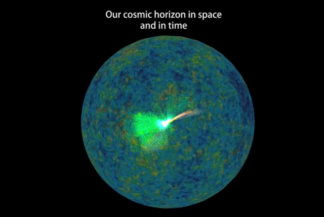 Cosmic Horizon in Space and Time