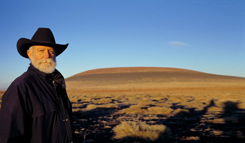 James Turrell Standing by Roden Crater