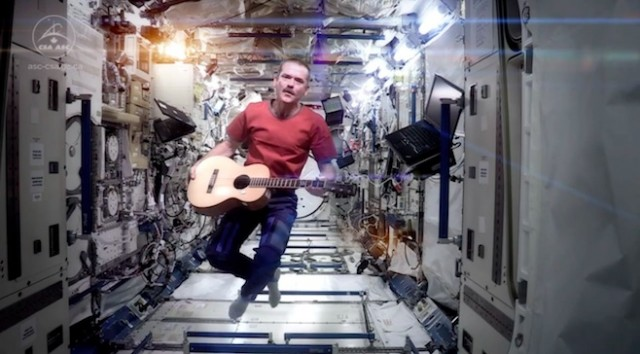 Space Oddity from Space