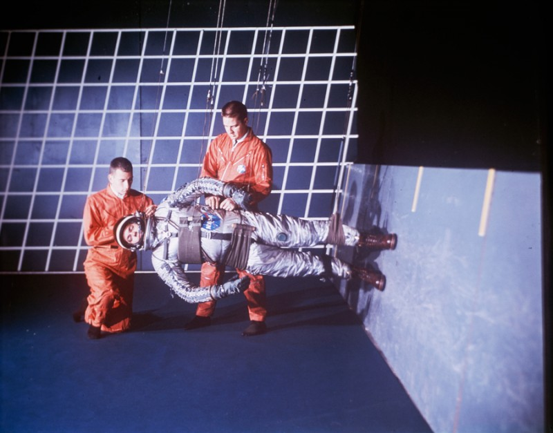 National Geographic's Vintage Photography Tumblr - Space Suit testing