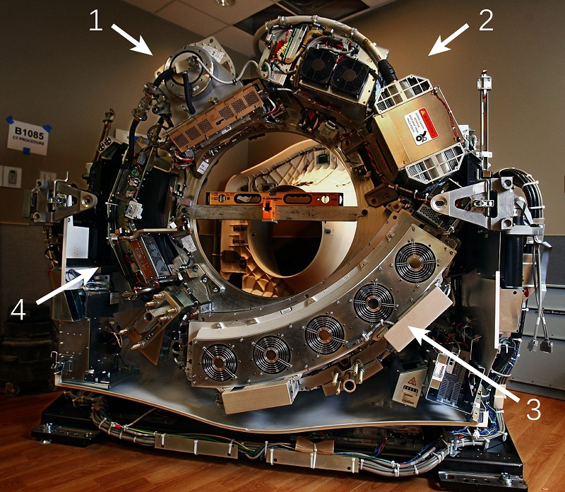 CT Scanner Without Cover Labeled