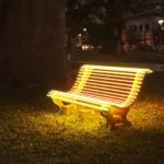 Street Lamp (Yellow Bench)