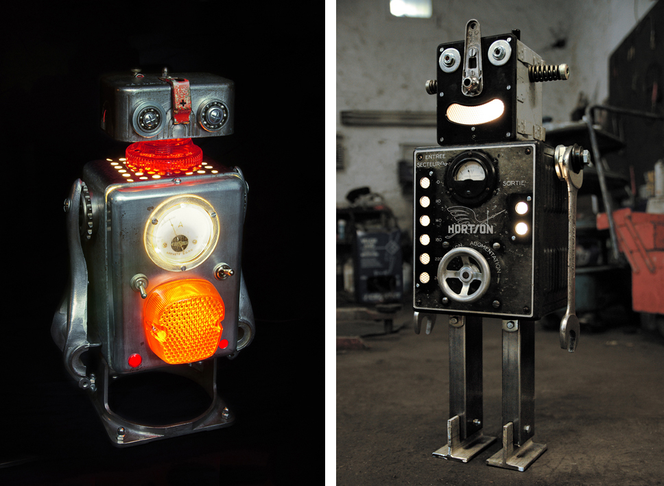 Brauer Upcycled Robots - Lucien and Horton