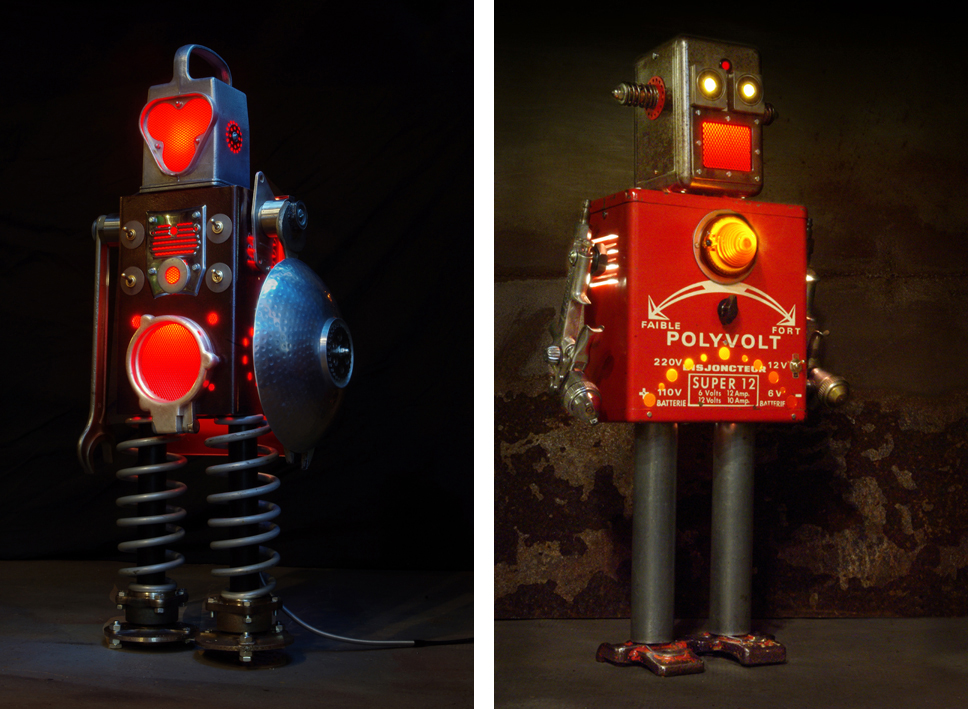 Brauer Upcycled Robots - Olaf and Eliott