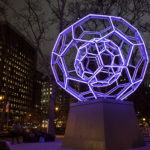 """Buckyball"" in Madison Square Park by Leo Villareal"