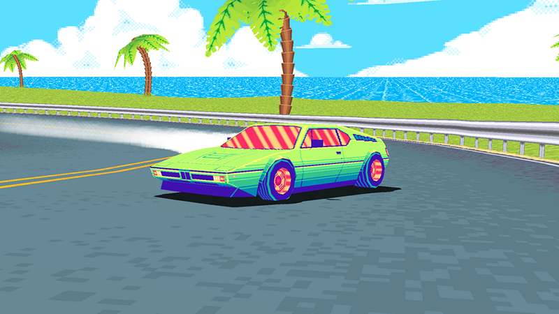 90's style video game