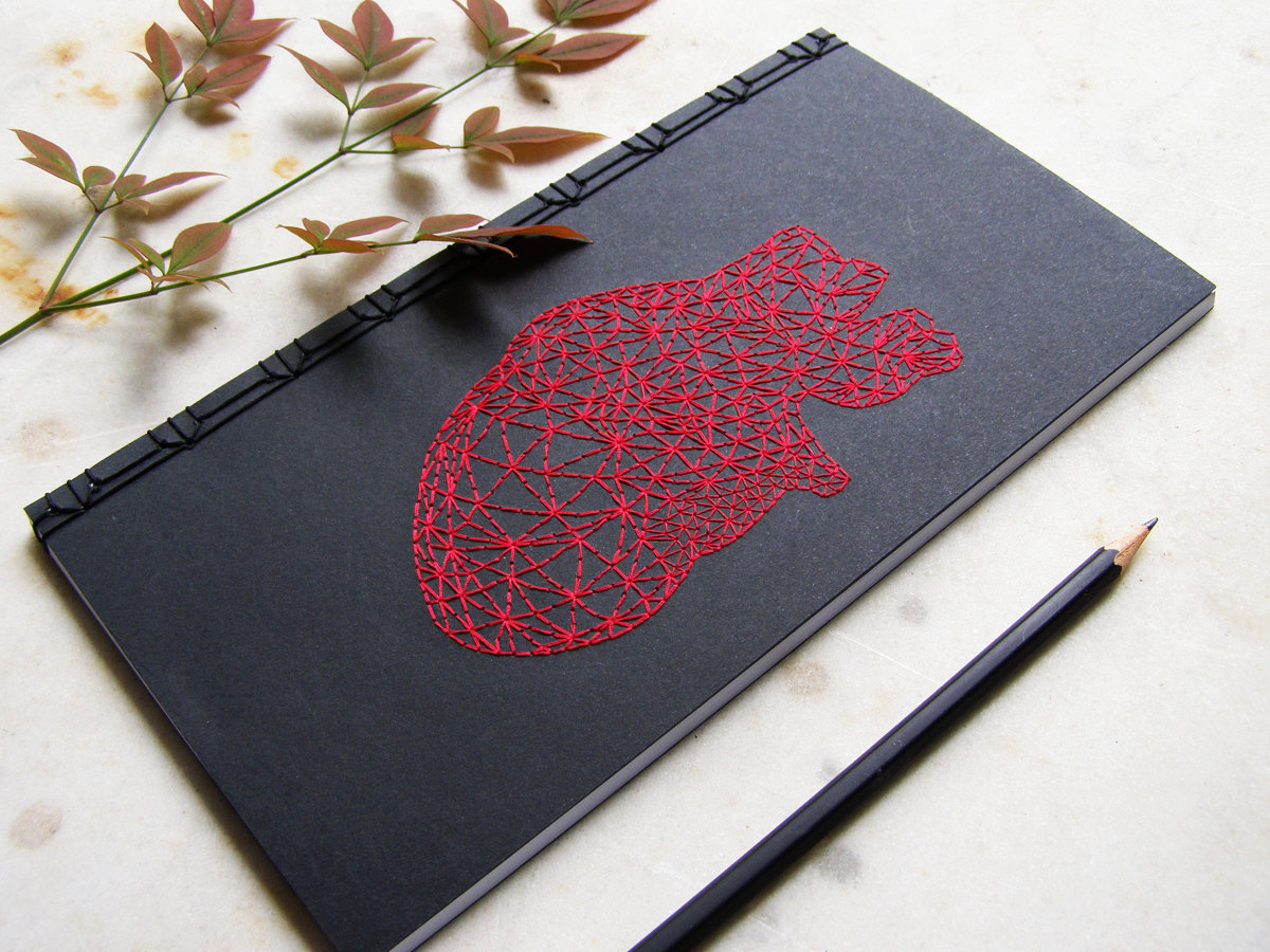 Hand Embroidered Anatomical Notebooks 2