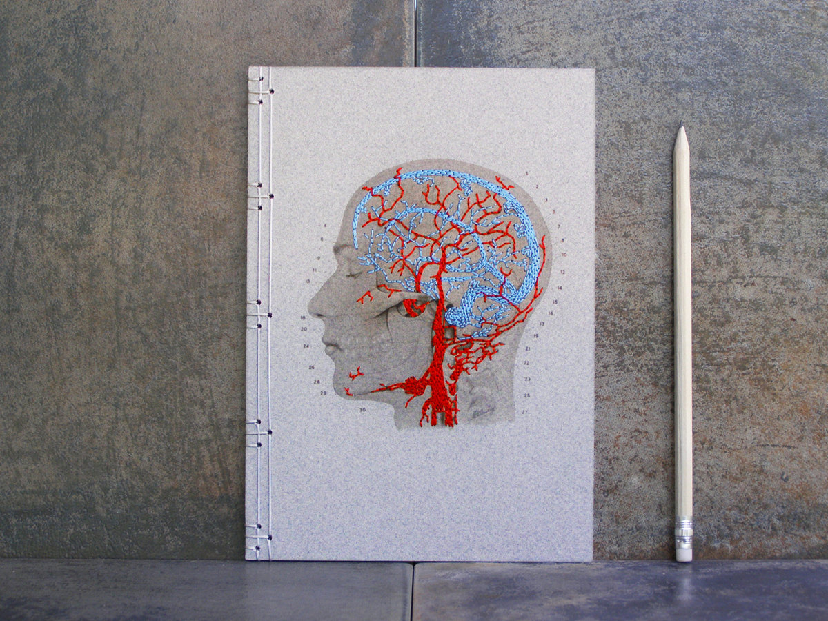 Hand Embroidered Anatomical Notebooks 3