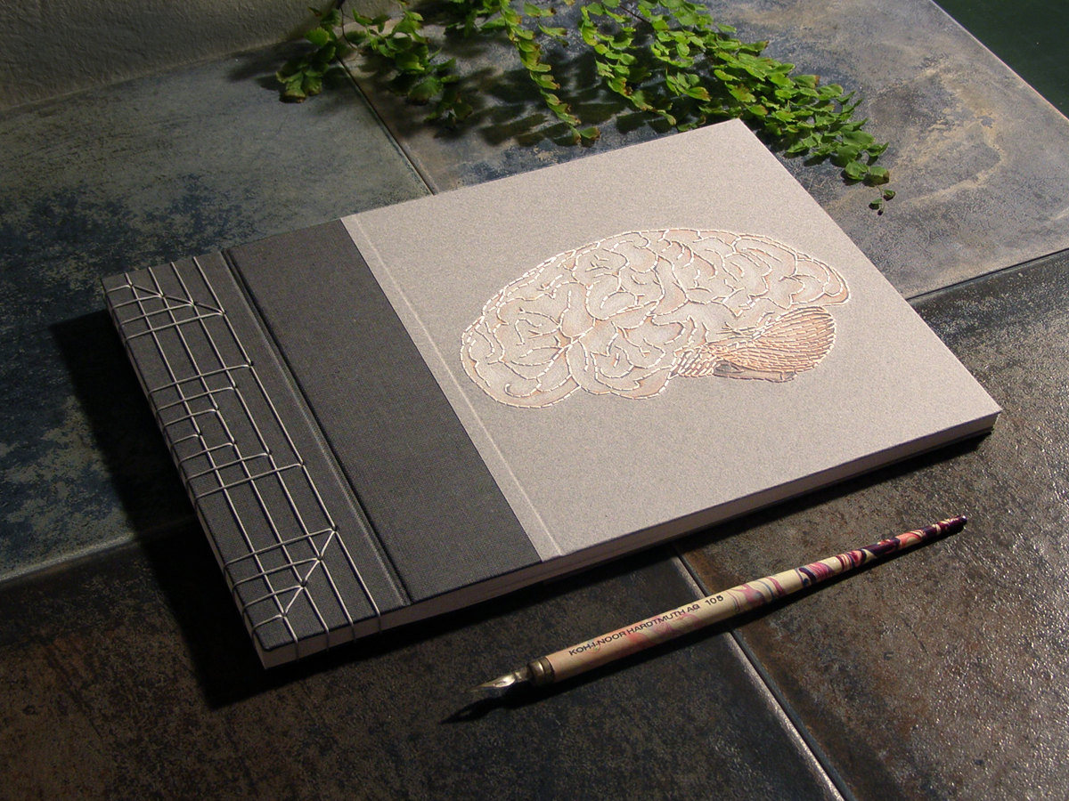 Hand Embroidered Anatomical  Notebooks 9