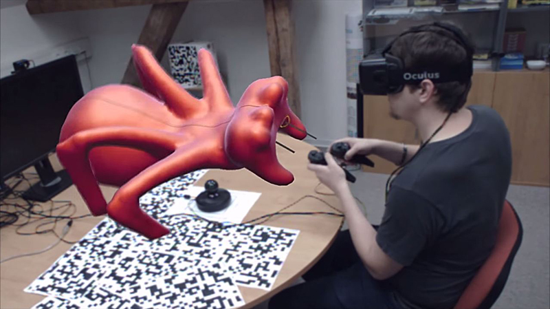 Virtual Reality sculpting Oculus Rift Spider