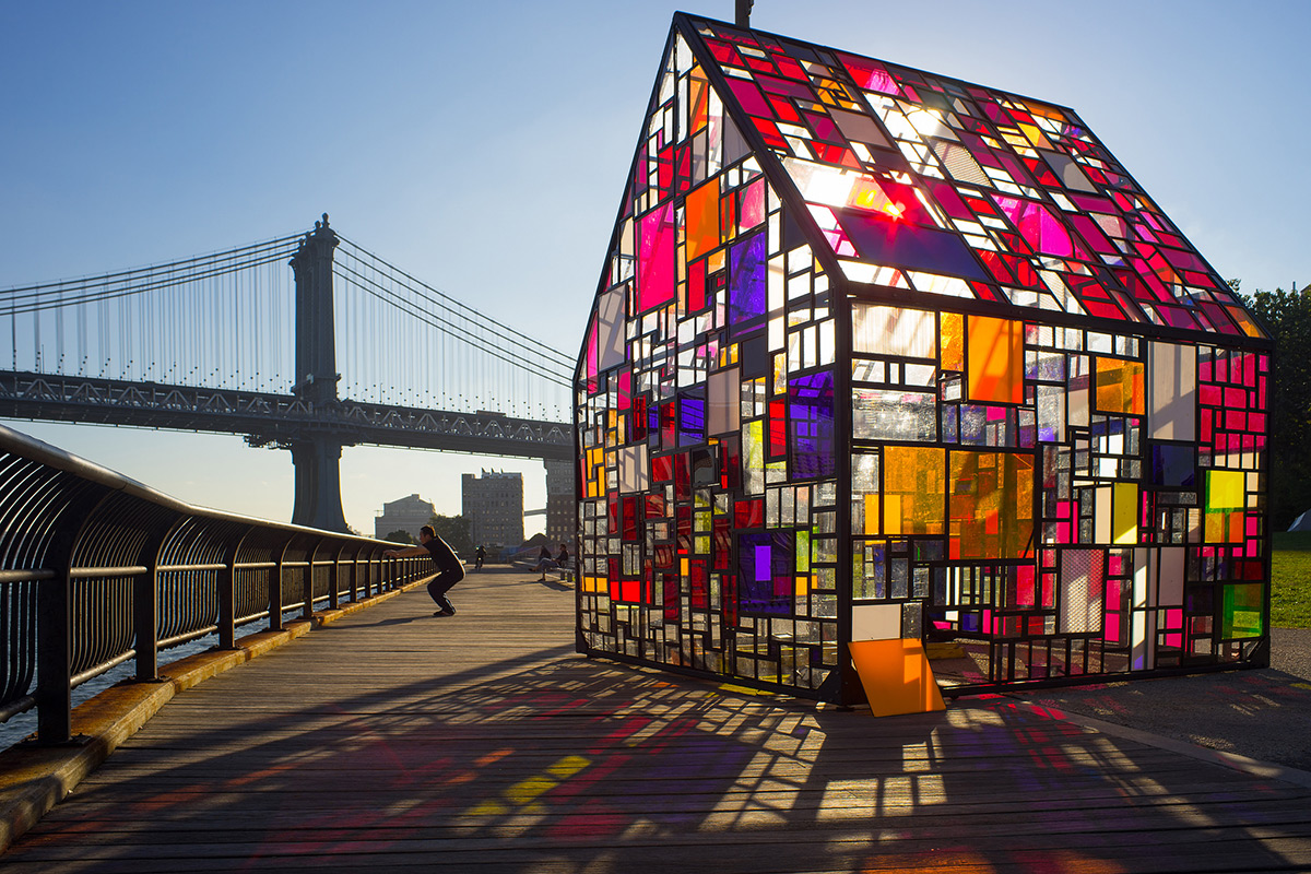Stained Glass House at the Brooklyn Bridge 1