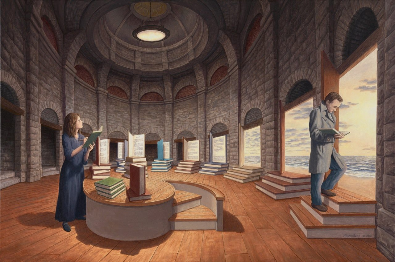 The Space Between Words by Rob Gonsalves