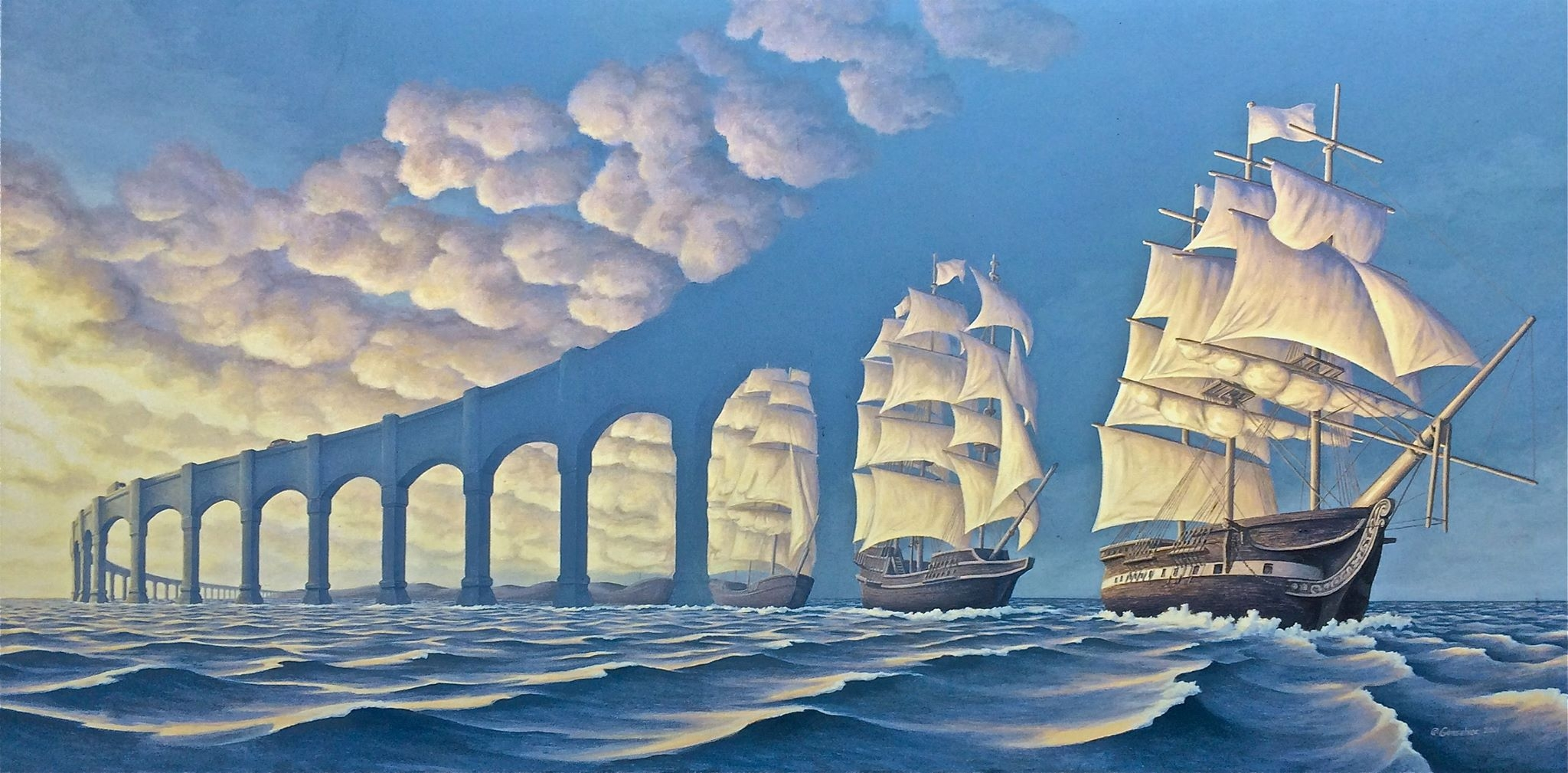The Sun Sets Sail by Rob Gonsalves